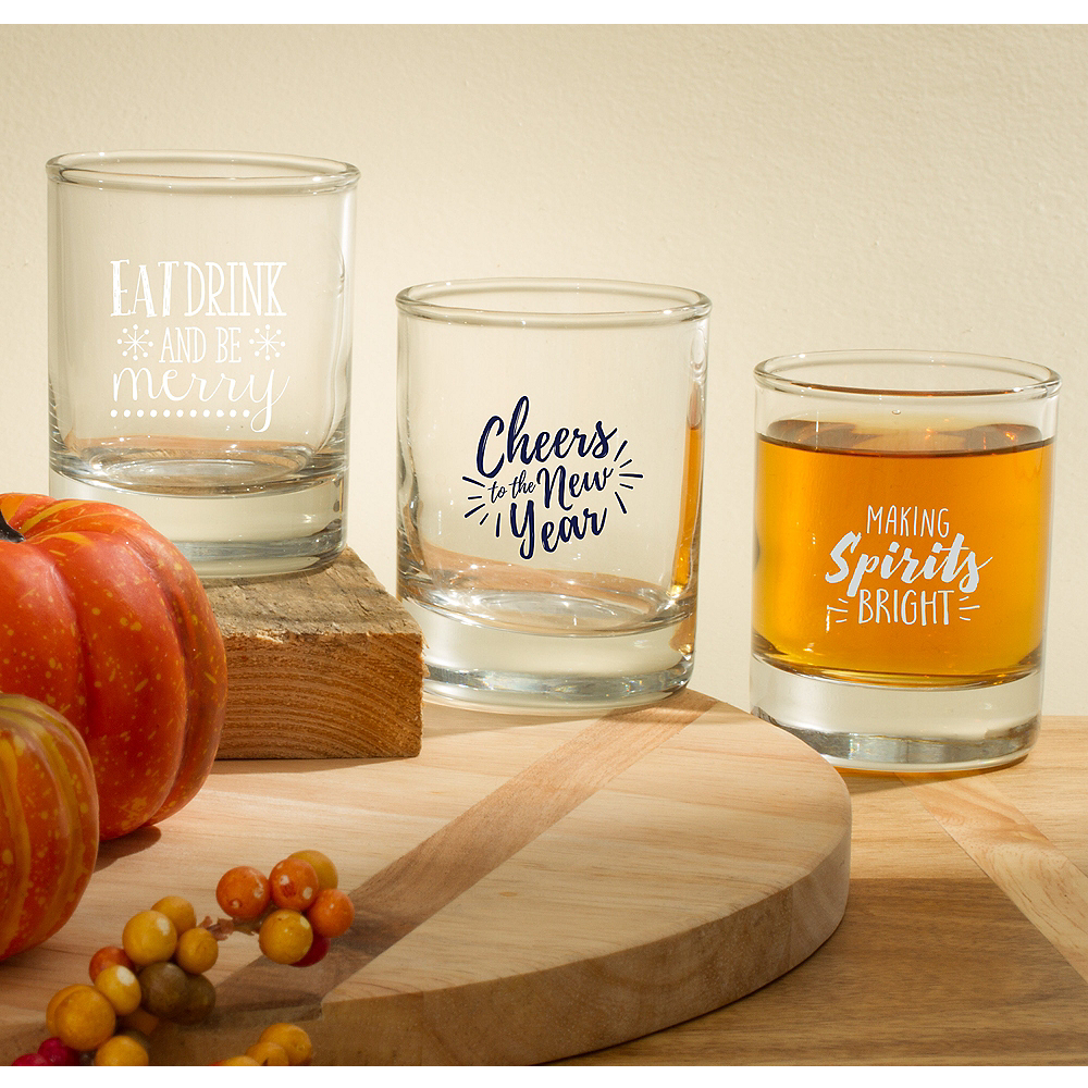 Personalized Holiday Shot Glasses (Printed Glass) Image #1