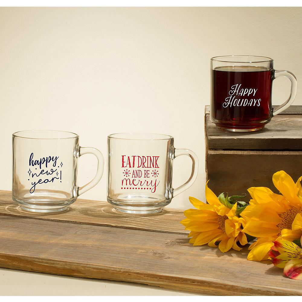 Personalized Holiday Glass Coffee Mugs (Printed Glass) Image #1