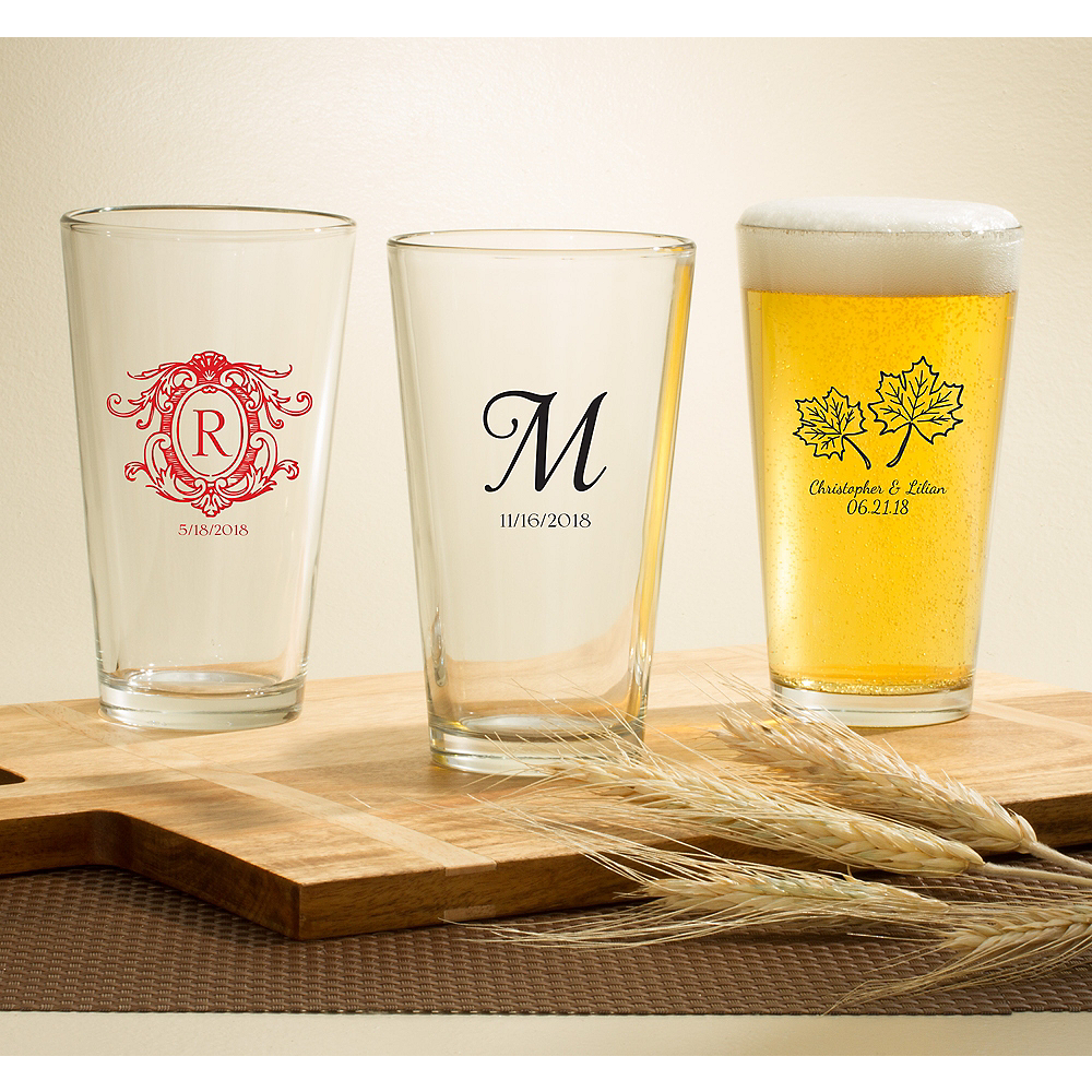 Personalized Baby Shower Pint Glasses (Printed Glass) Image #1