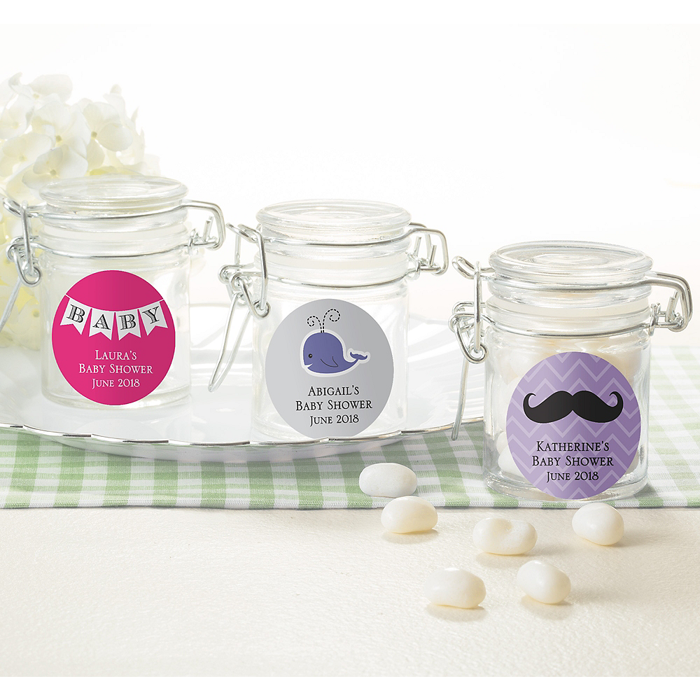 Personalized Baby Shower Small Glass Jars (Printed Label) Image #1