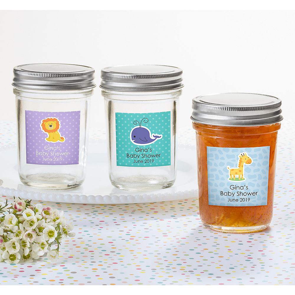 Personalized Baby Shower Mason Jars (Printed Label) Image #1