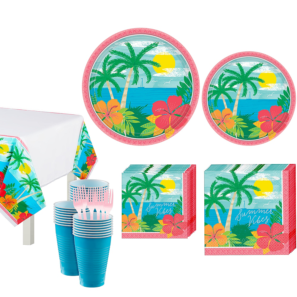 Summer Vibes Tableware Kit for 60 Guests Image #1