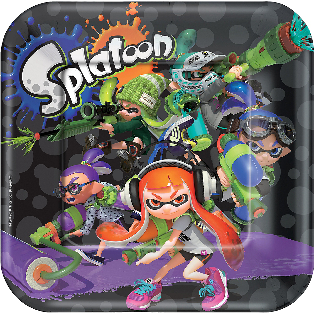 Splatoon Lunch Plates 8ct Image #1