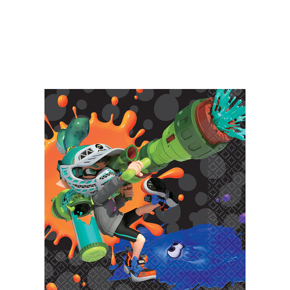 Splatoon Beverage Napkins 16ct Image #1