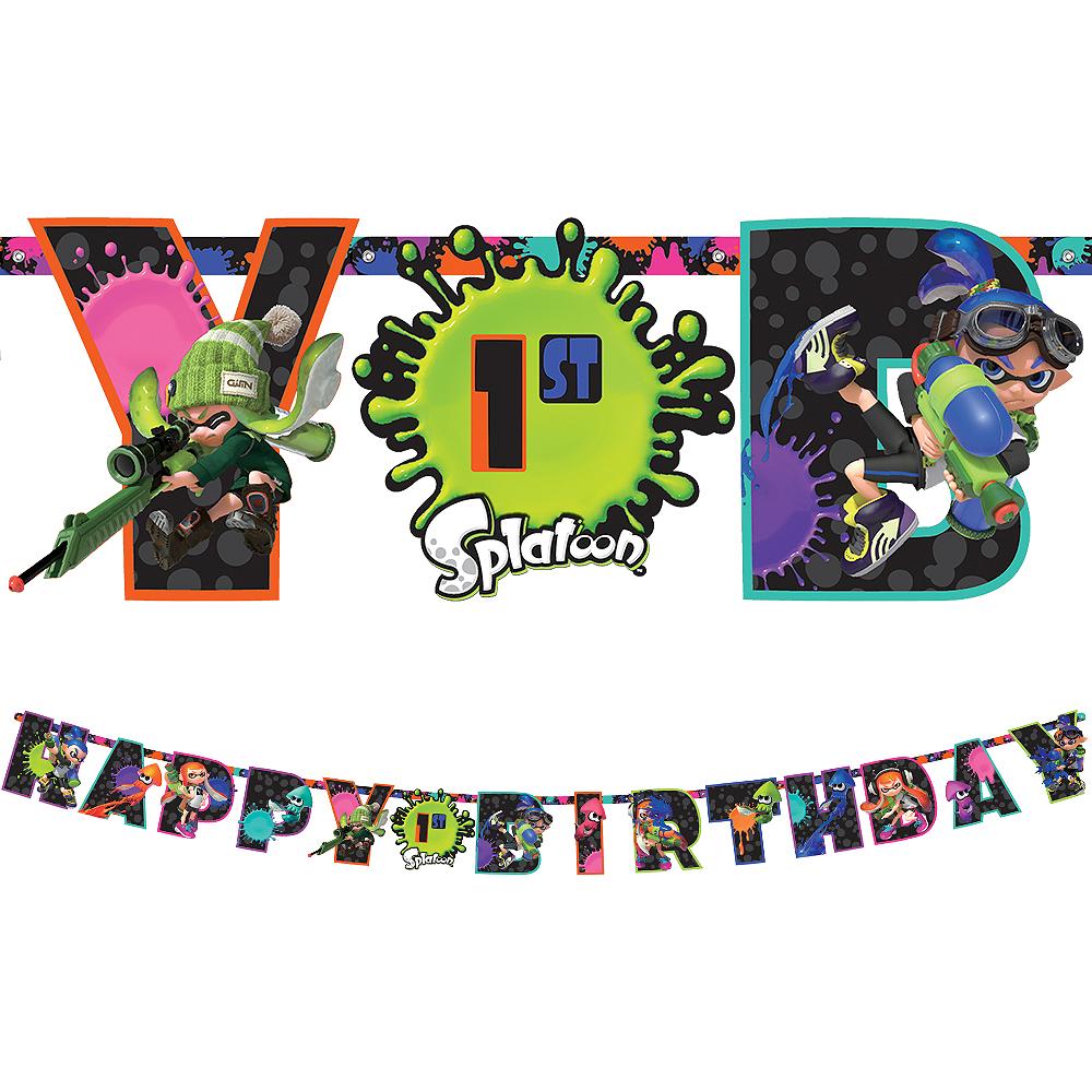 Splatoon Birthday Banner Kit Image #1
