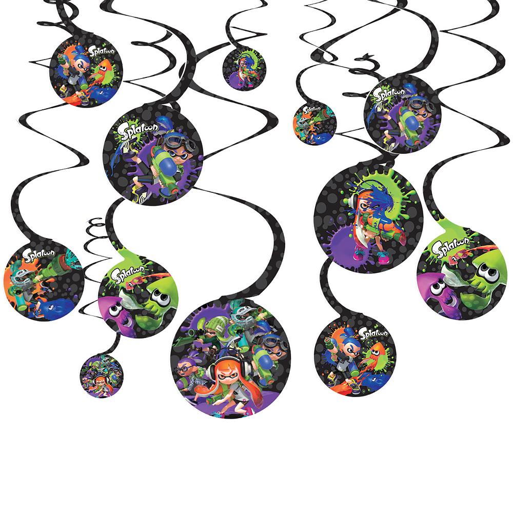 Splatoon Swirl Decorations 12ct Image #1