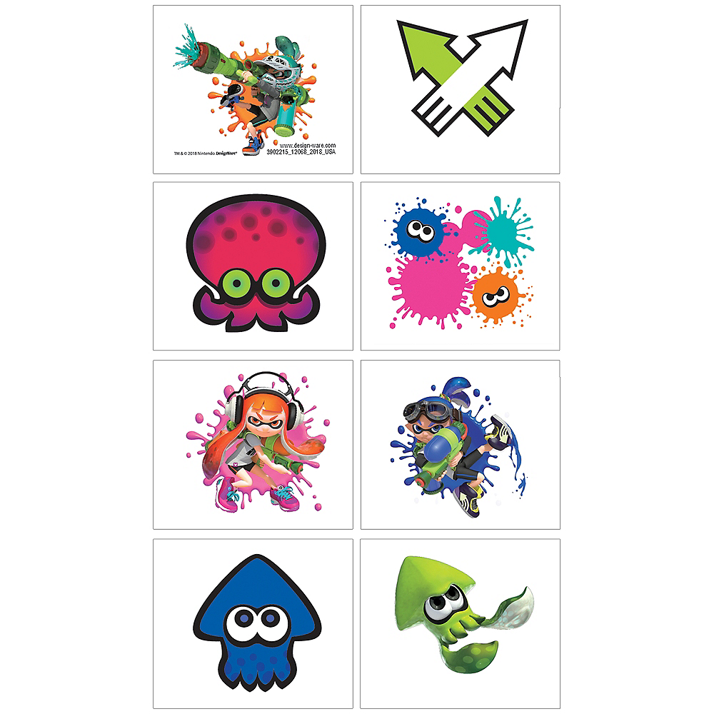 Splatoon Tattoos 1 Sheet Image #1