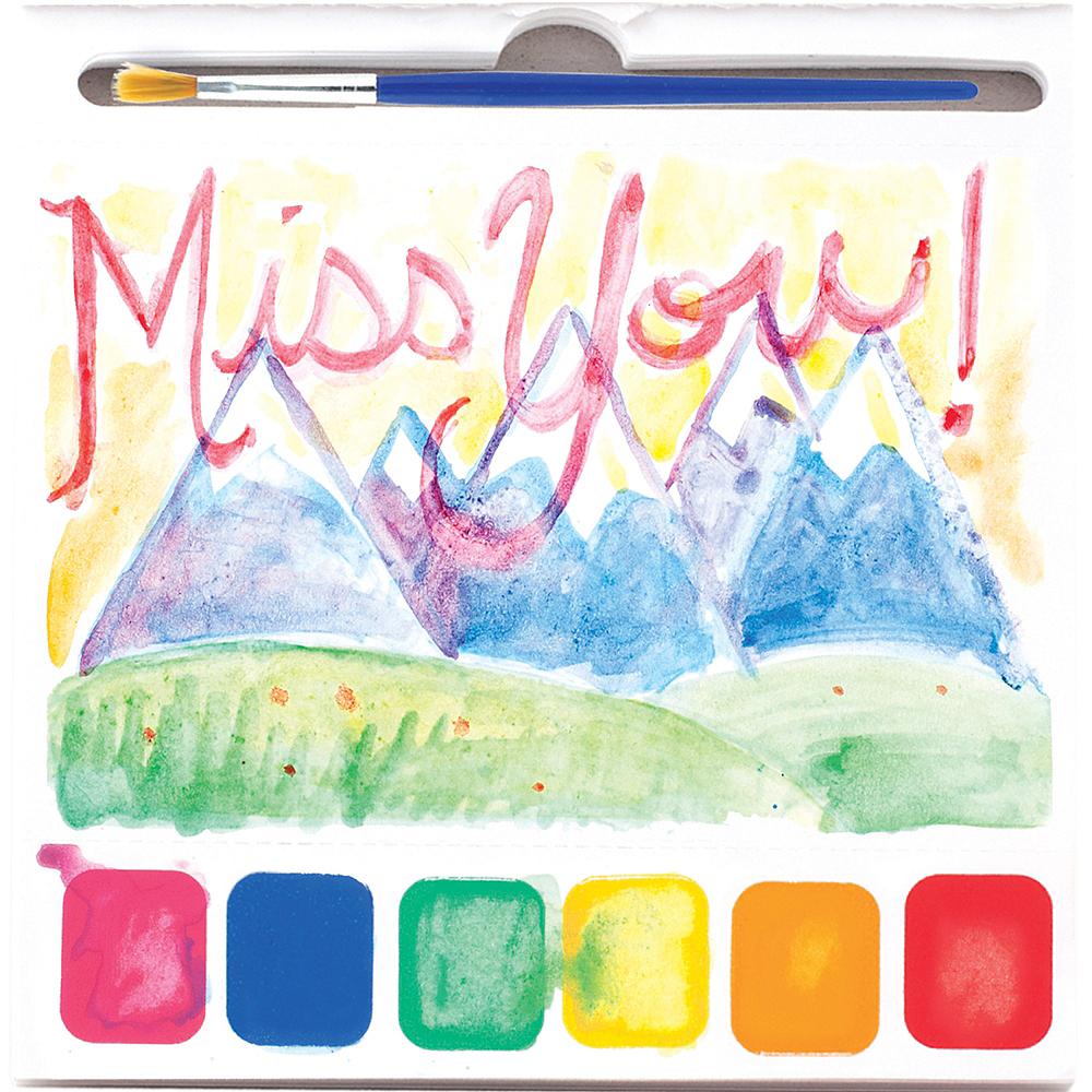 Watercolor Postcard Book 2pc Image #1