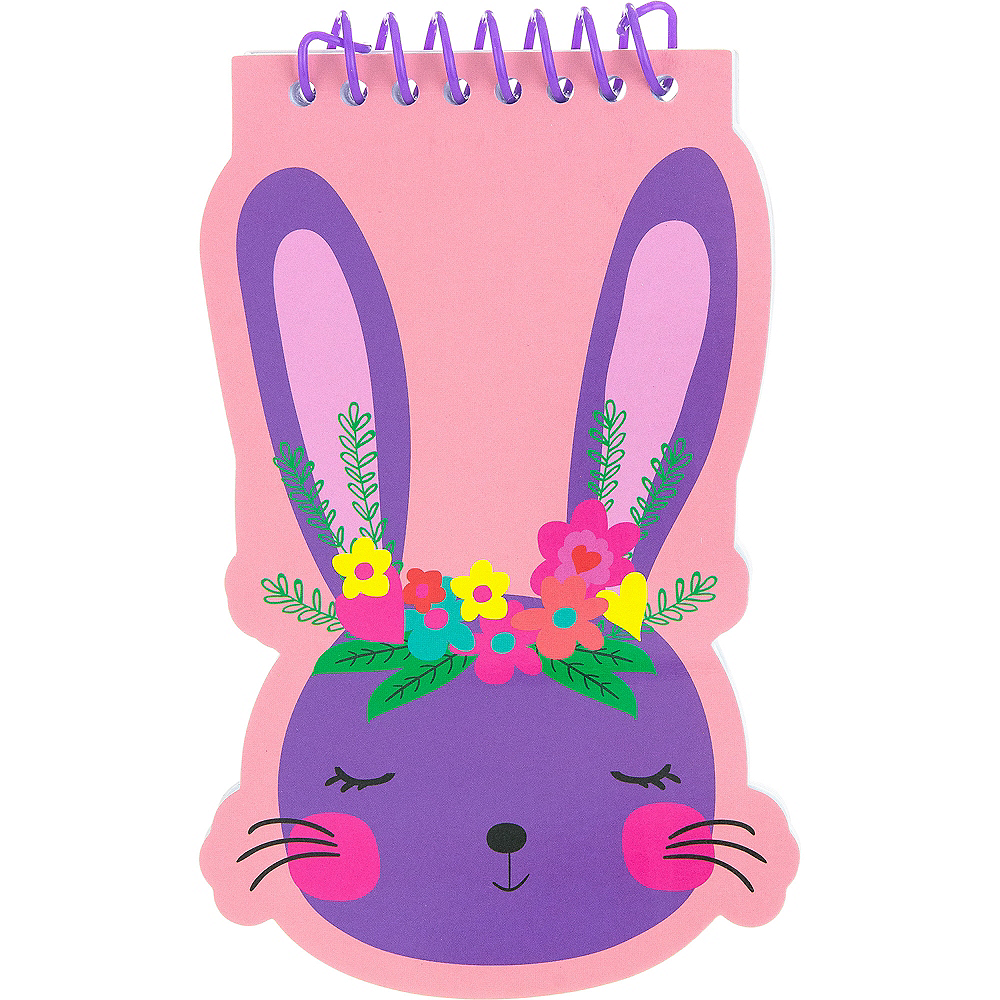 Floral Crown Bunny Notepad Image #1