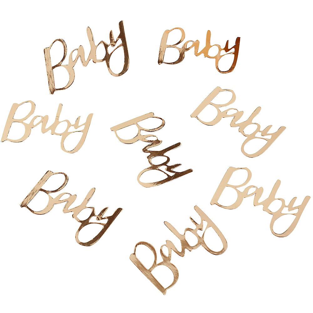 Ginger Ray Metallic Gold Baby Table Confetti Image #2
