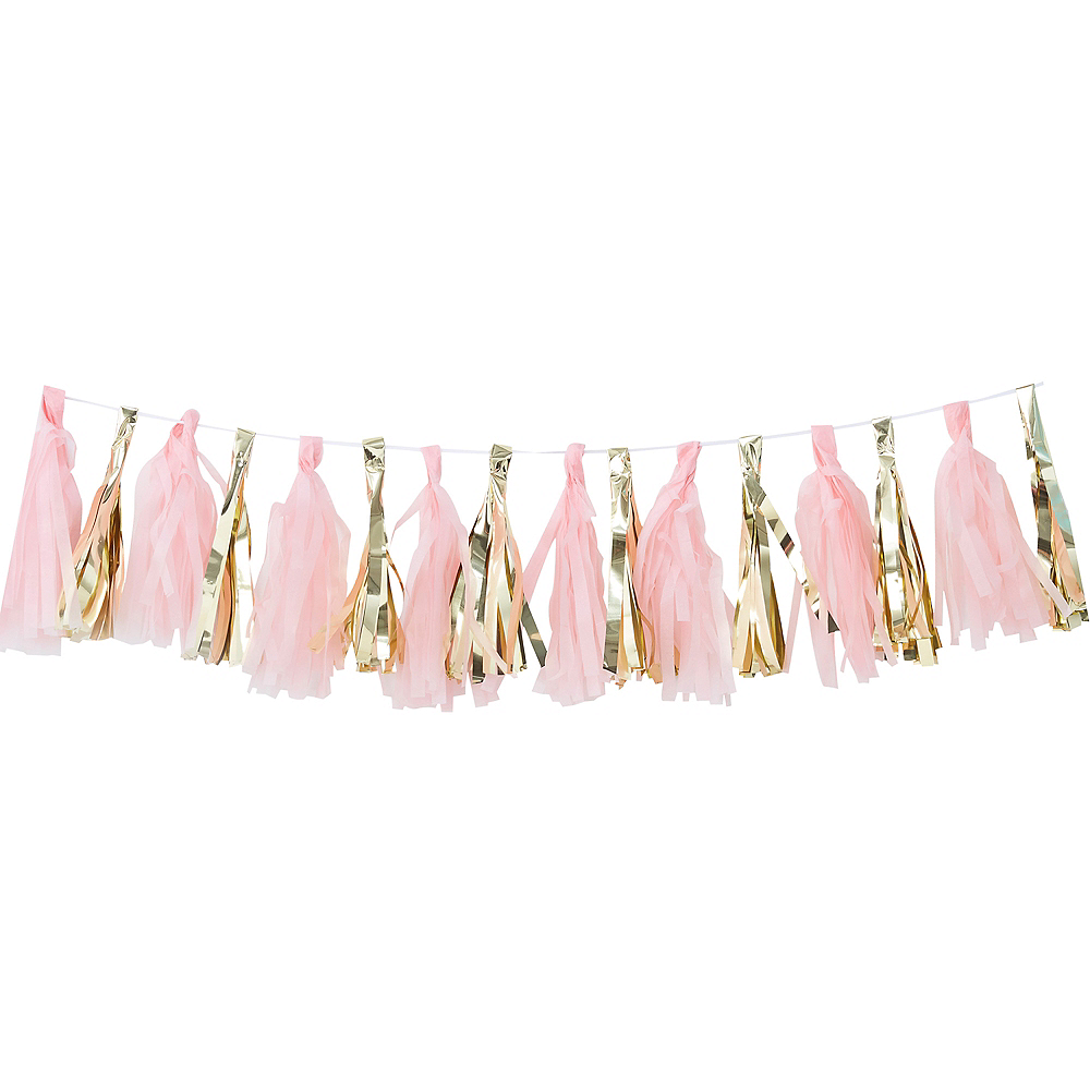Ginger Ray Gold and Pink Tassel Garland Image #1