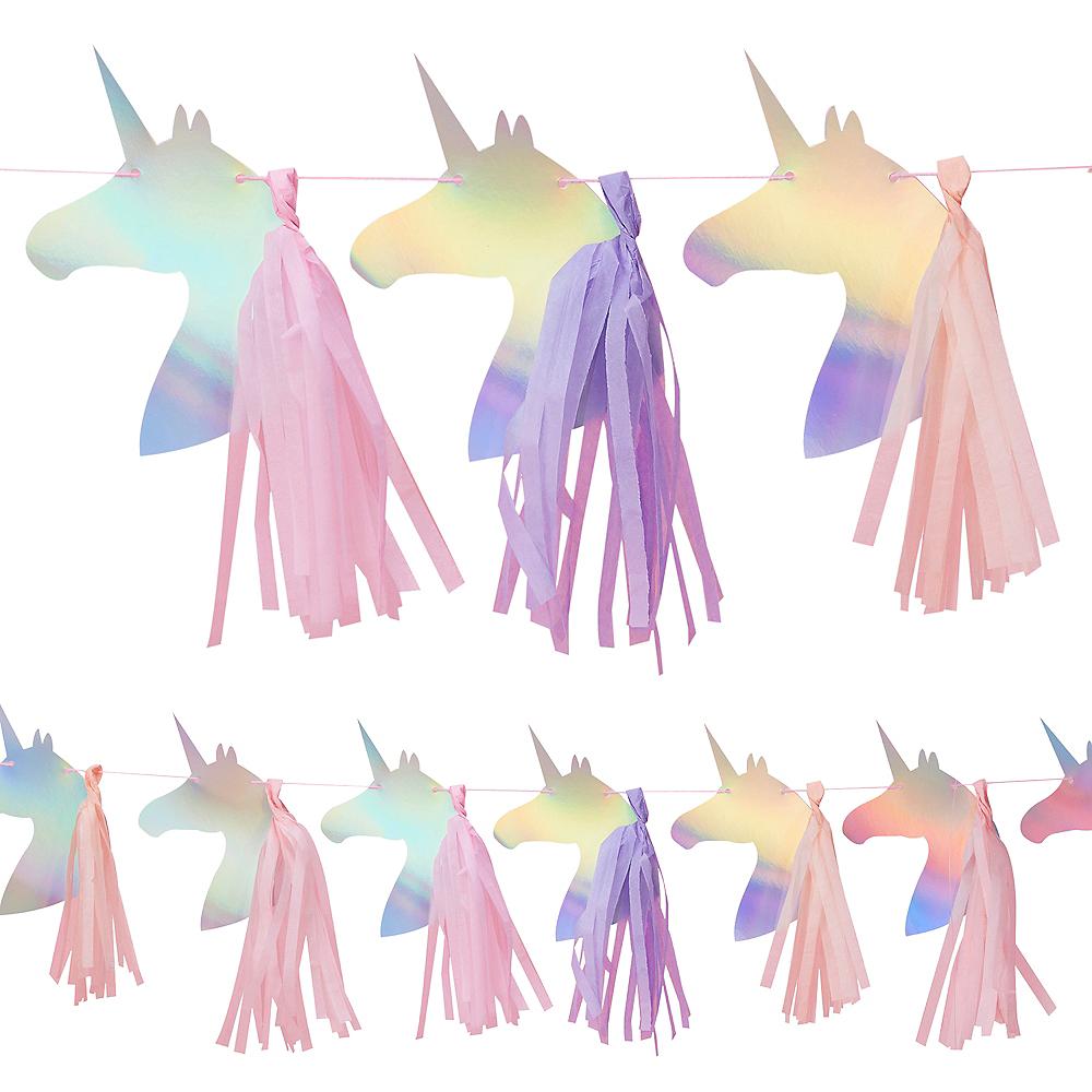 Ginger Ray Iridescent Unicorn Tassel Banner Image #1