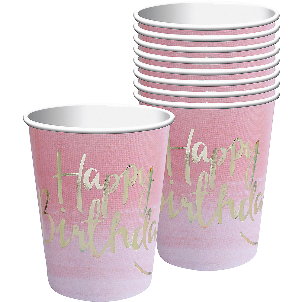 Ginger Ray Gold Happy Birthday Cups 8ct Image #1