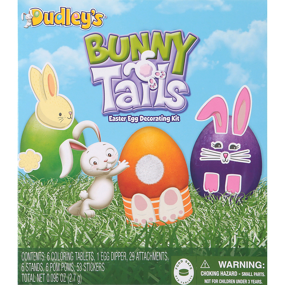Bunny Tails Easter Egg Decorating Kit 101pc Image #1