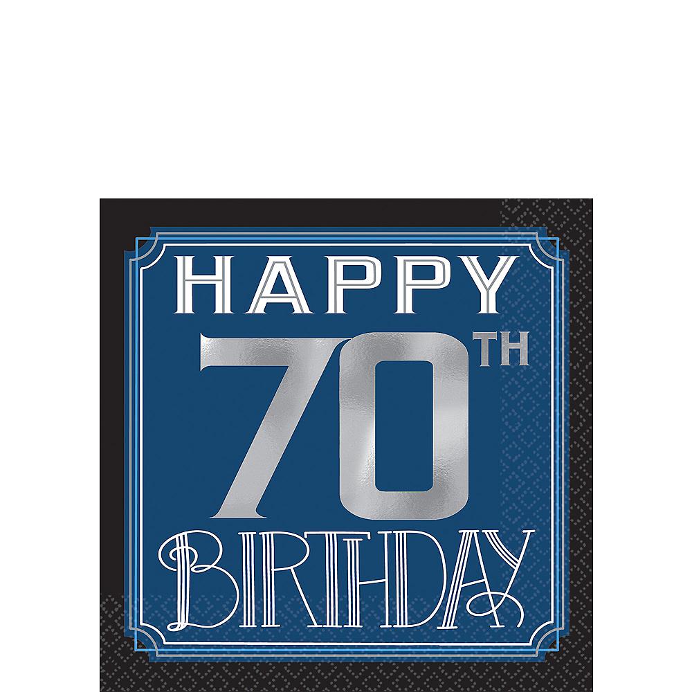 Vintage Happy Birthday 70th Birthday Beverage Napkins 16ct Image #1