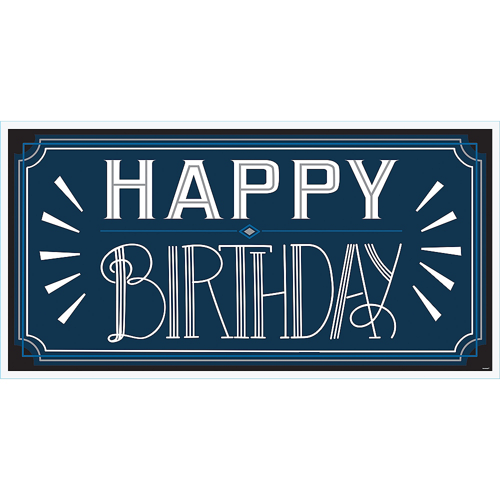 Vintage Happy Birthday Banner Image #1