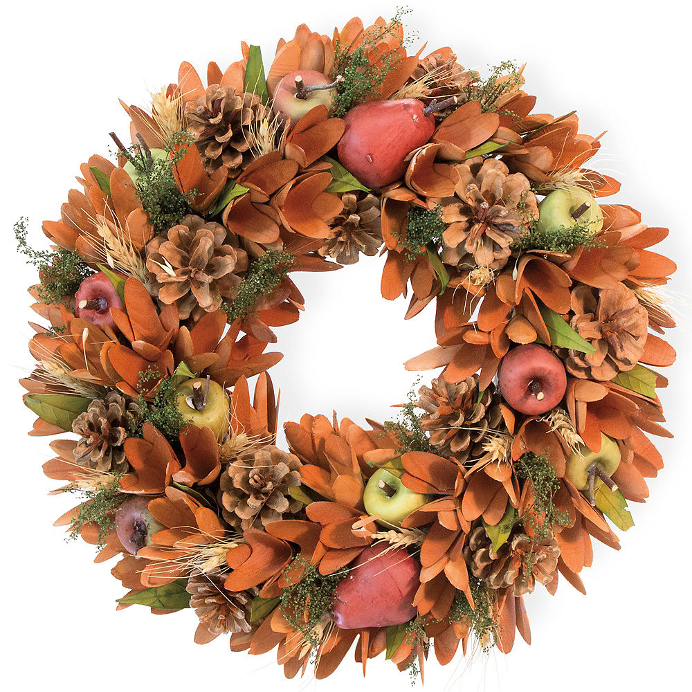 Fall Apples & Pears Wreath Image #1