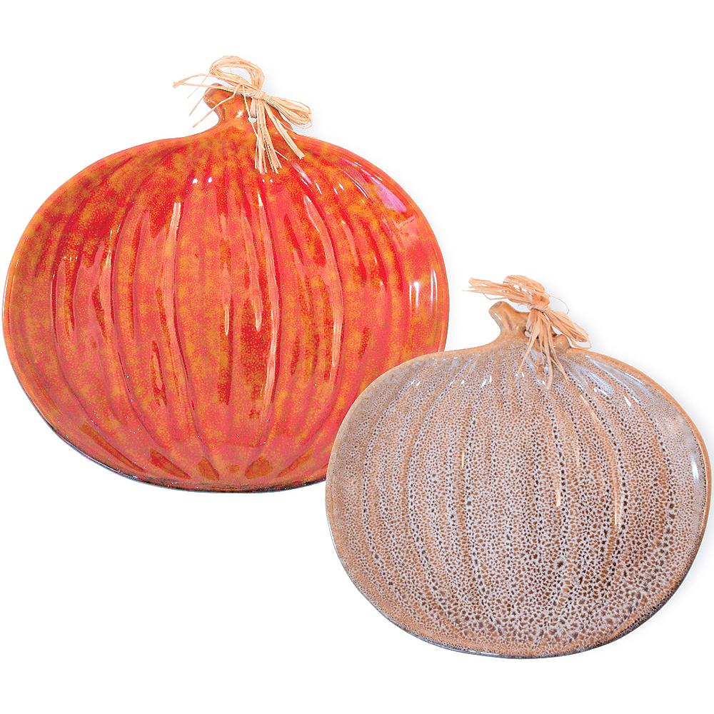 Pumpkin Plate Set 2pc Image #1