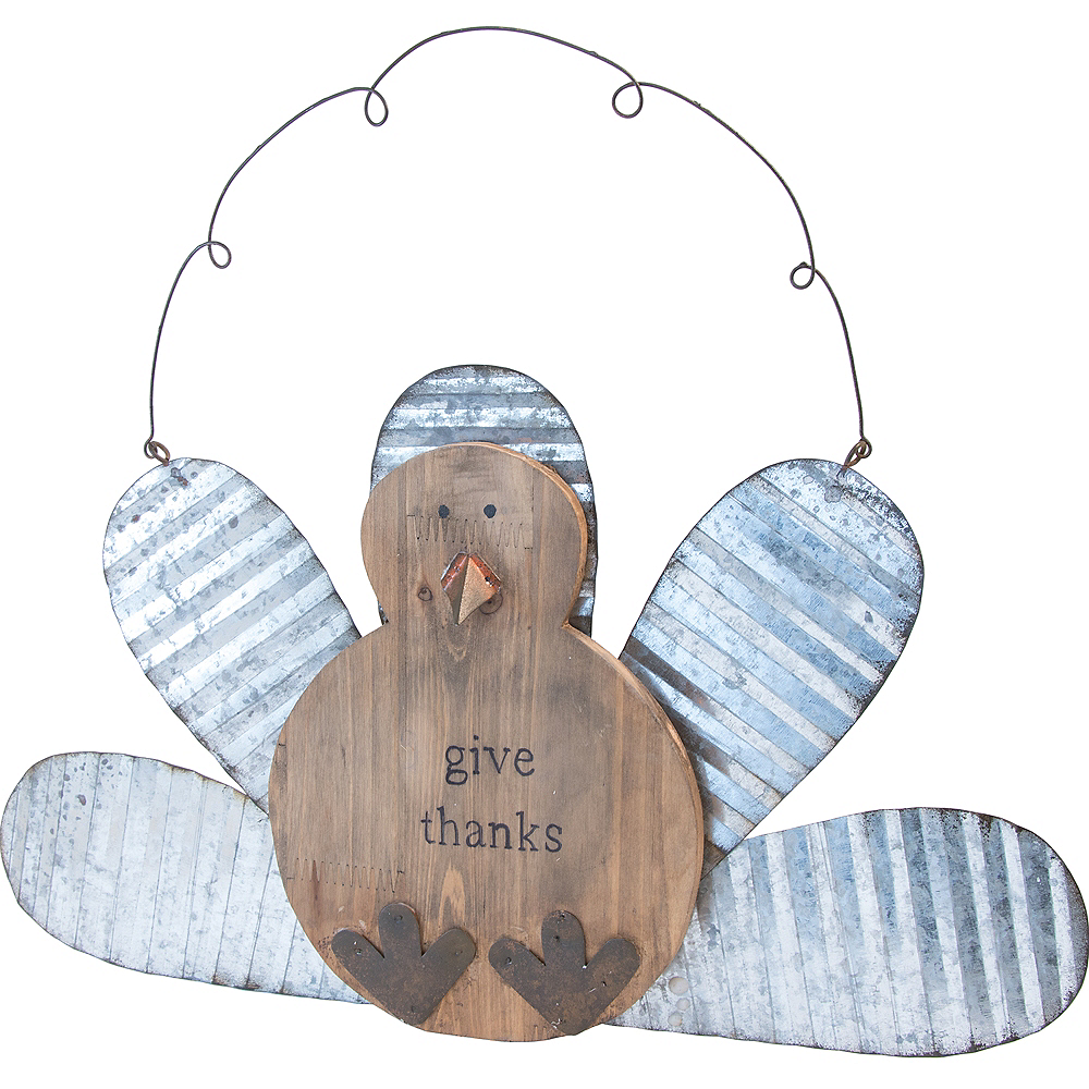 Give Thanks Hanging Turkey Decoration Image #1