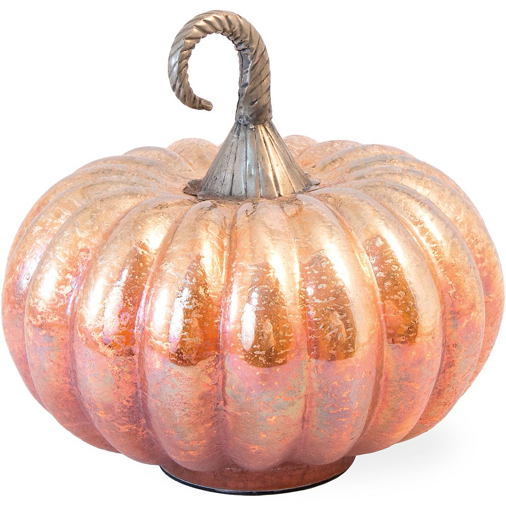 Orange Frosted Glass Pumpkin Image #1
