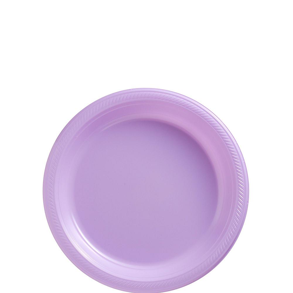 Lavender Plastic Tableware Kit for 50 Guests Image #2