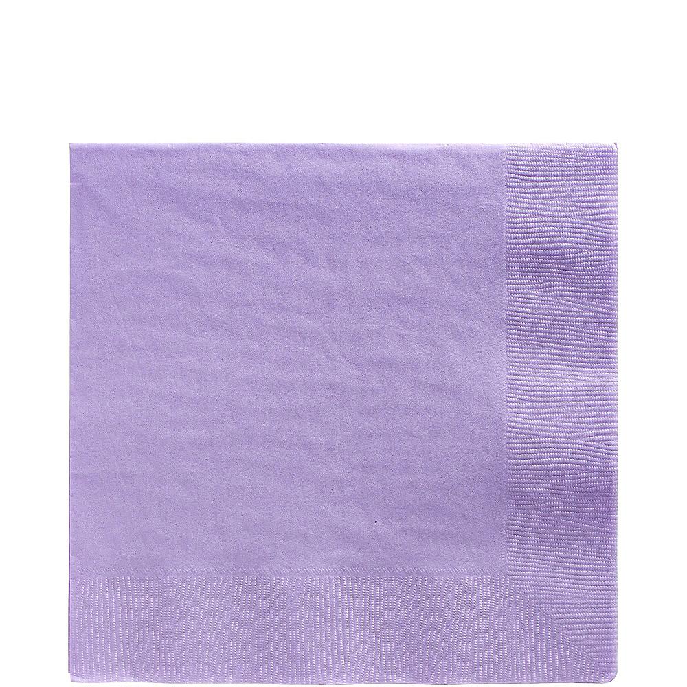 Lavender Plastic Tableware Kit for 50 Guests Image #4