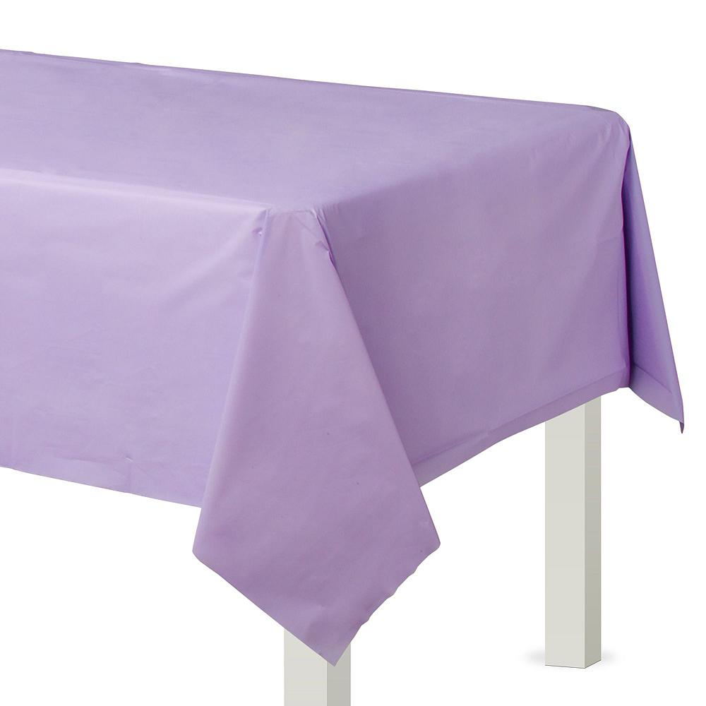 Lavender Plastic Tableware Kit for 50 Guests Image #6
