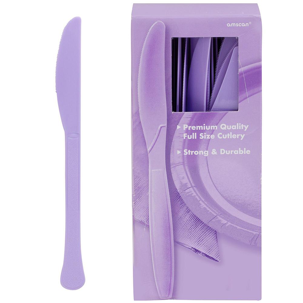 Lavender Plastic Tableware Kit for 100 Guests Image #10