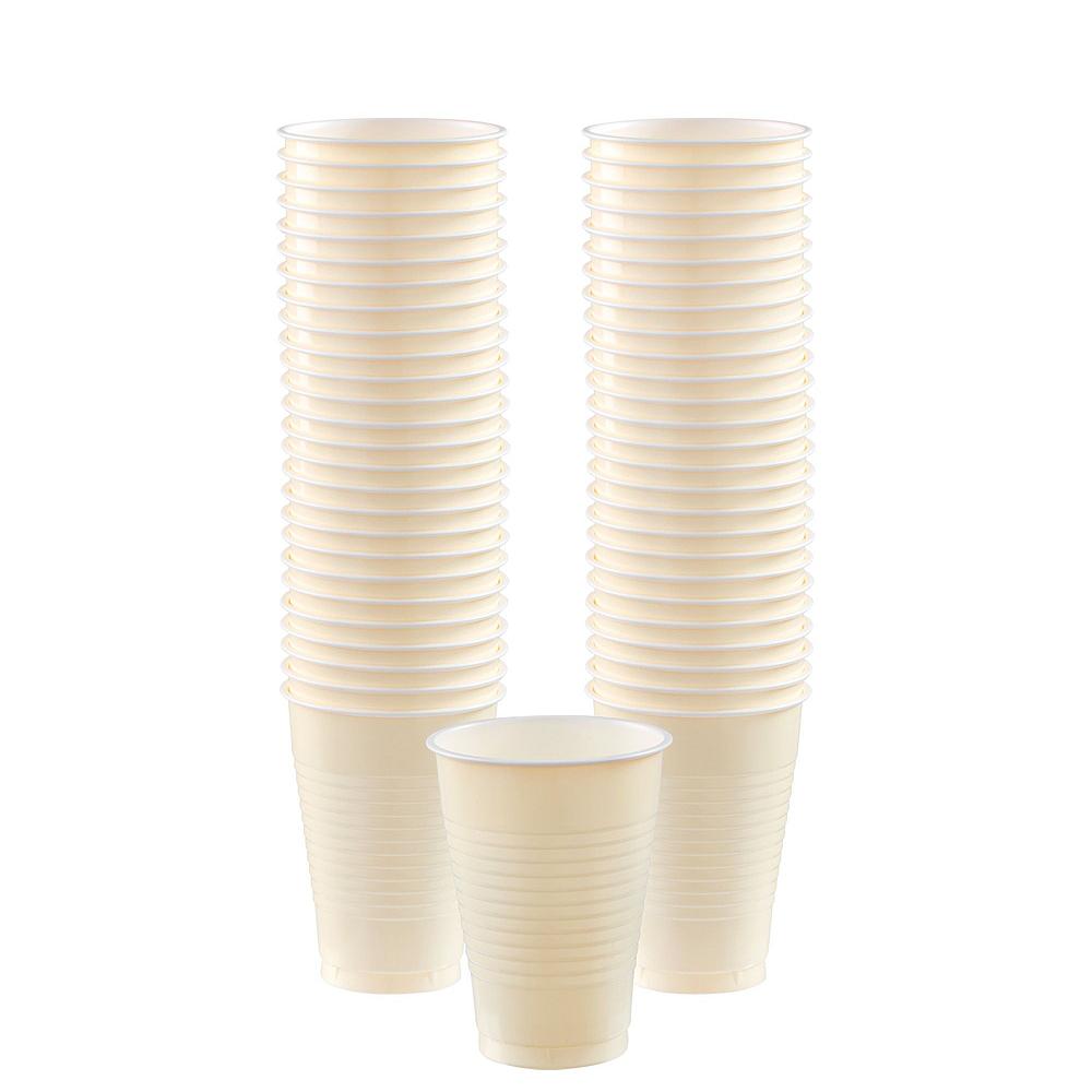 Vanilla Plastic Tableware Kit for 100 Guests Image #6