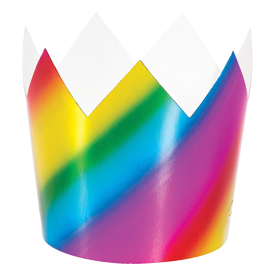 Metallic Rainbow Crowns 8ct Image #1
