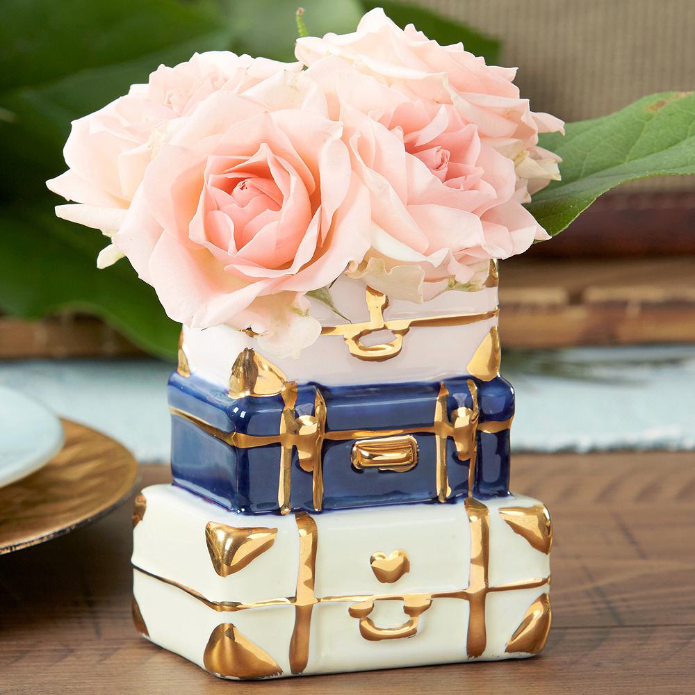 Suitcase Ceramic Bud Vase Image #1