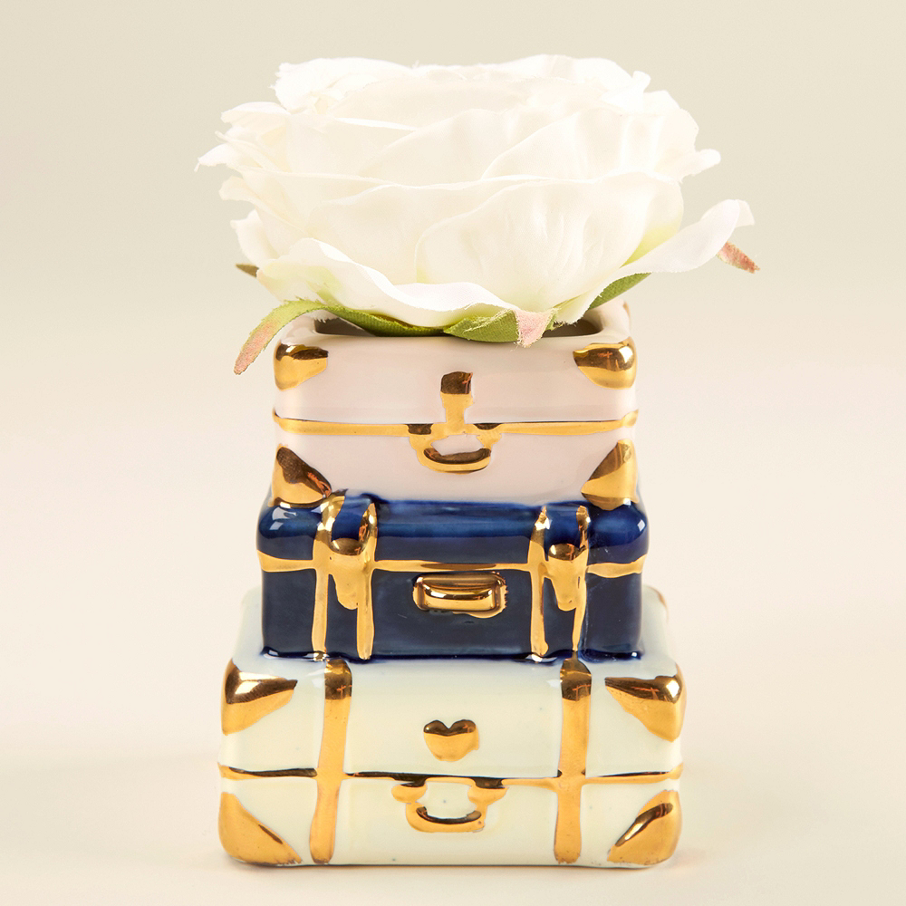Suitcase Ceramic Bud Vase Image #2