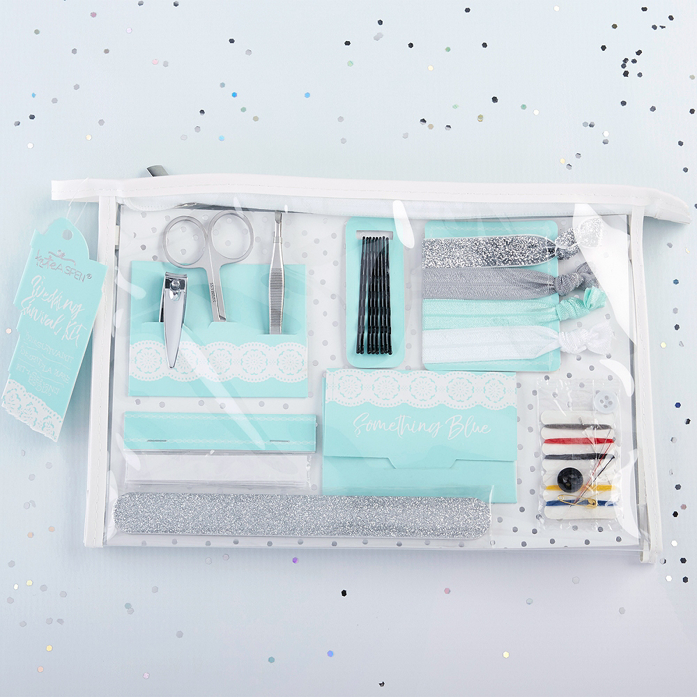 Something Blue Wedding Survival Kit 8pc Image #1