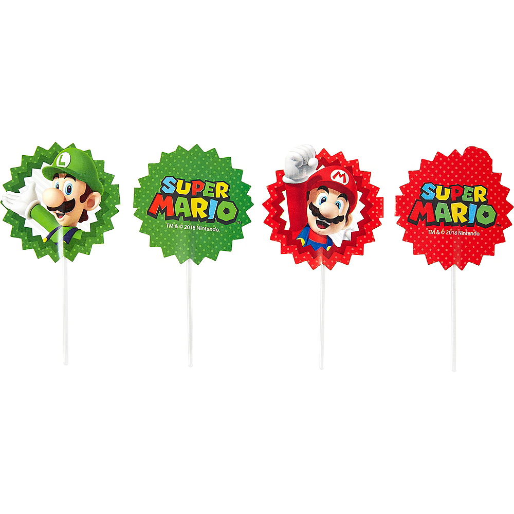 Wilton Super Mario Cupcake Picks 24ct Image #1