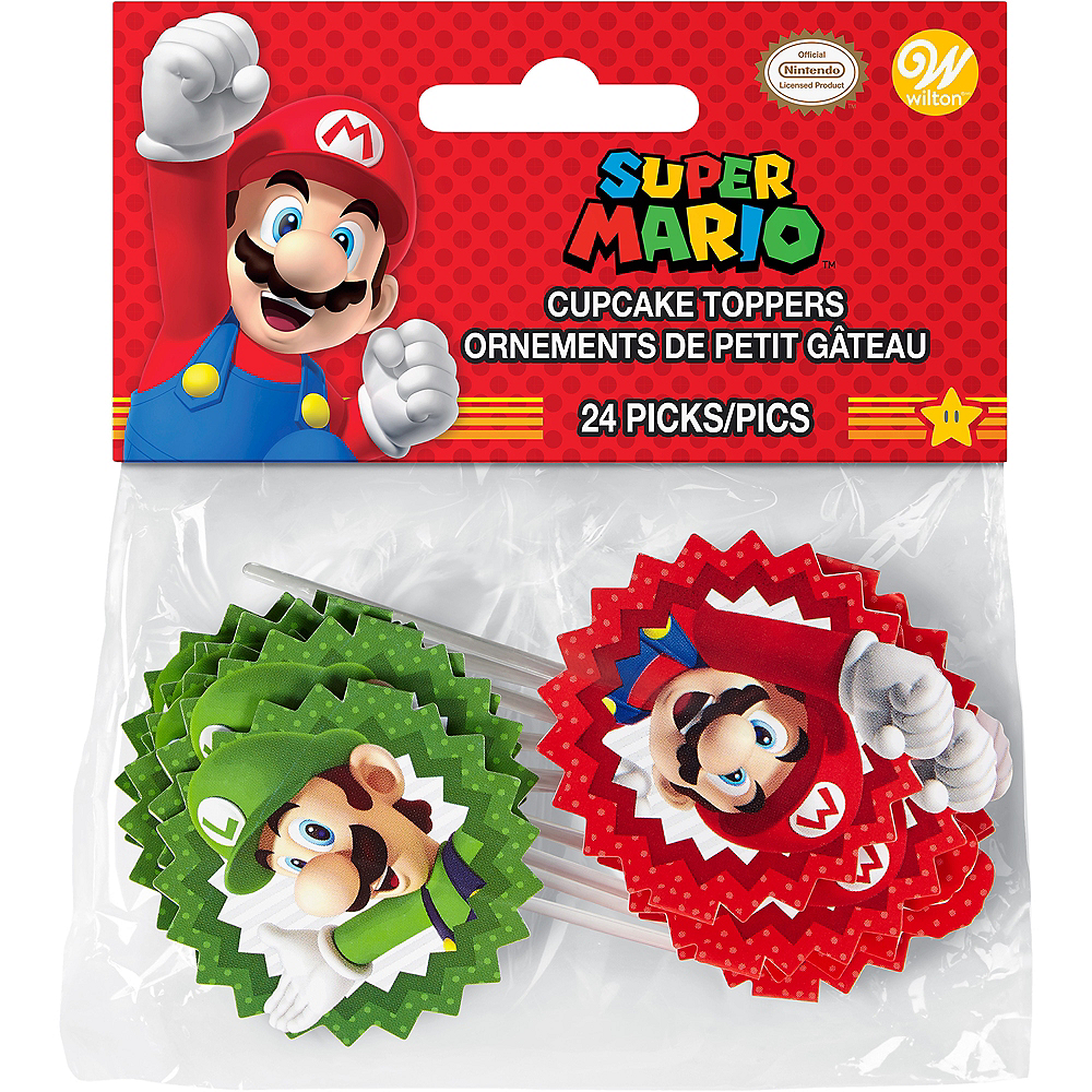 Wilton Super Mario Cupcake Picks 24ct Image #2