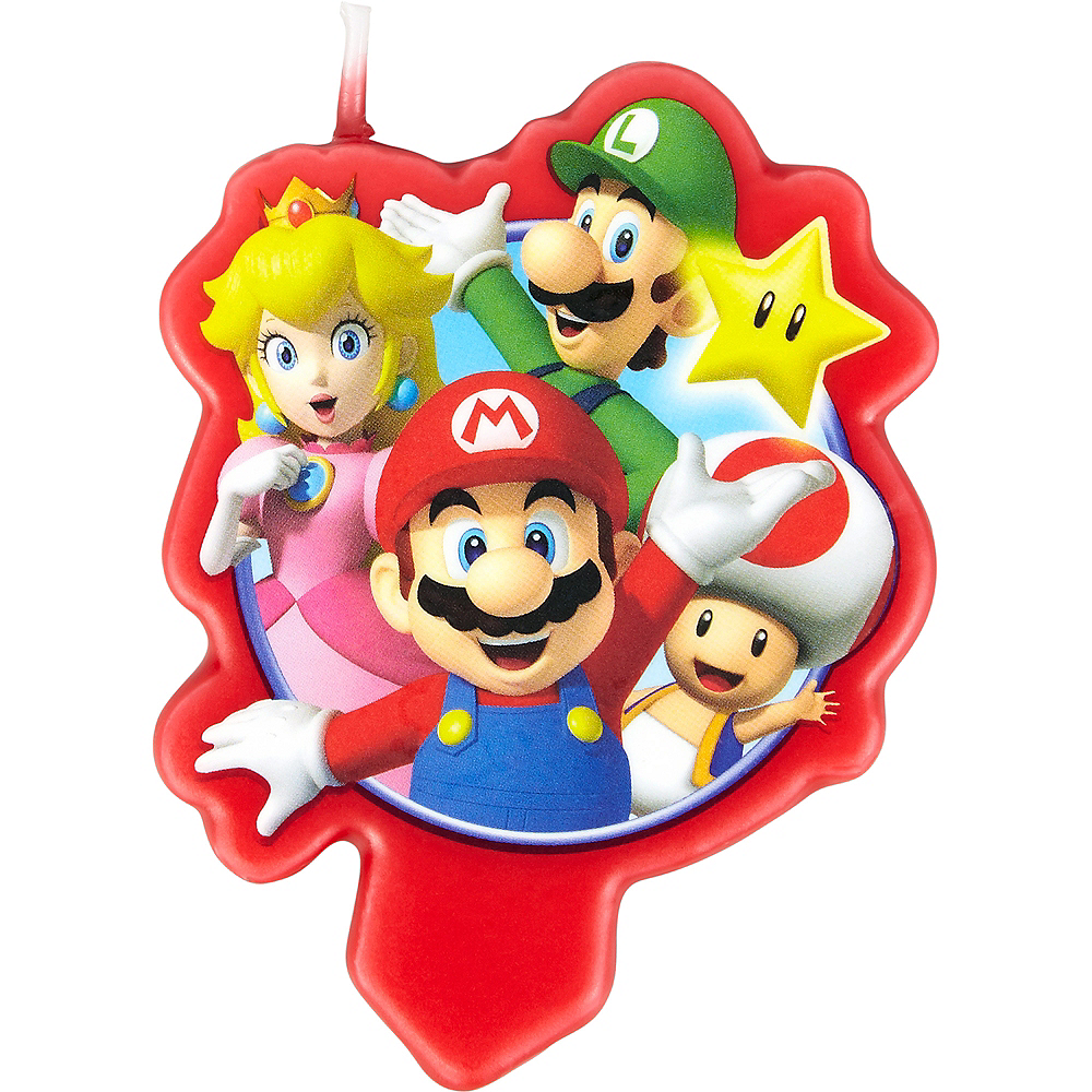 Wilton Super Mario Birthday Candle Image #1