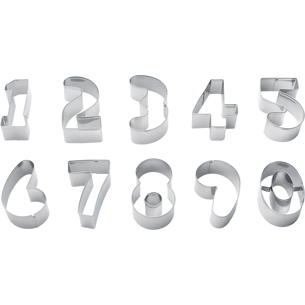 Number Cookie Cutters 10ct Image #1