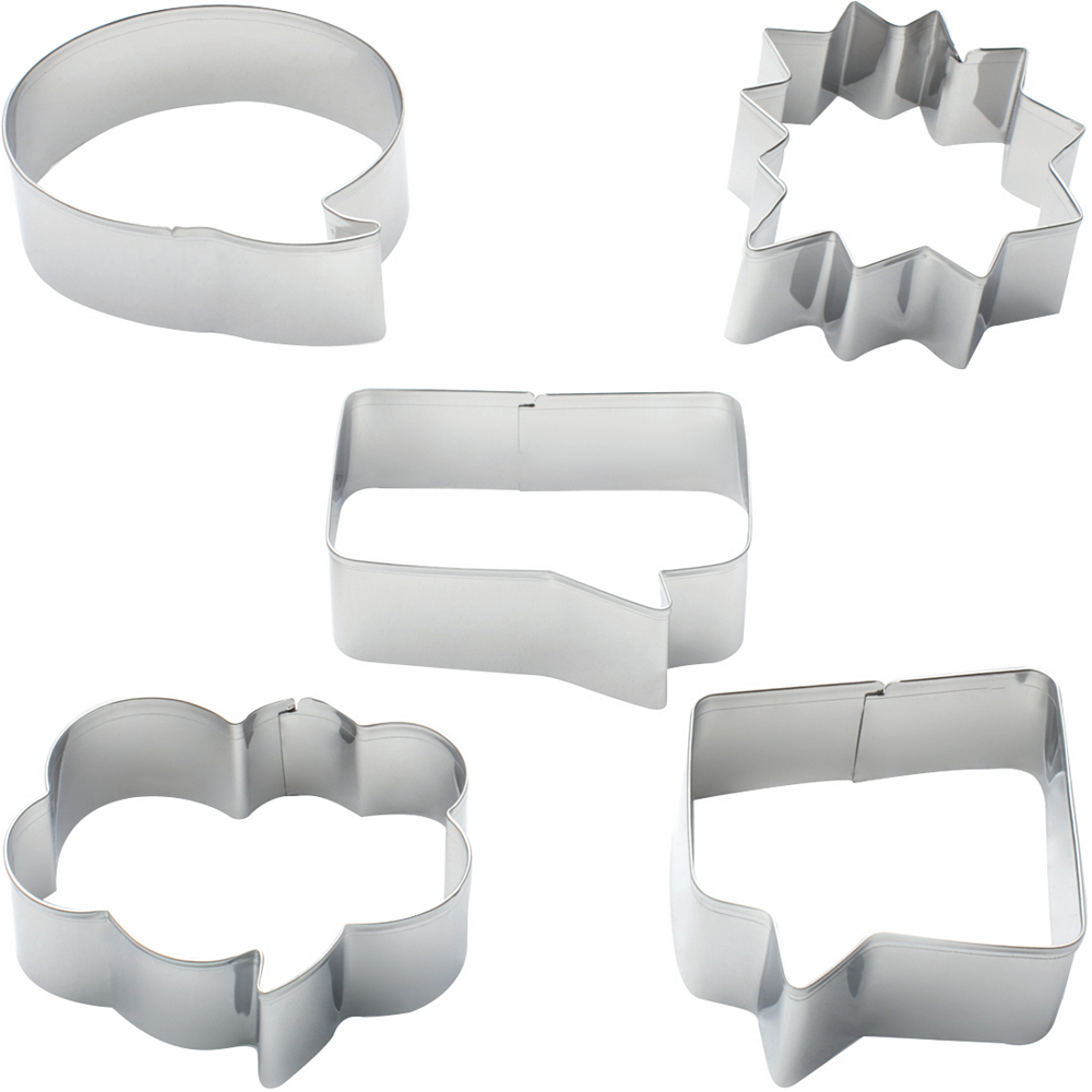 Speech Bubble Cookie Cutters 5ct Image #1