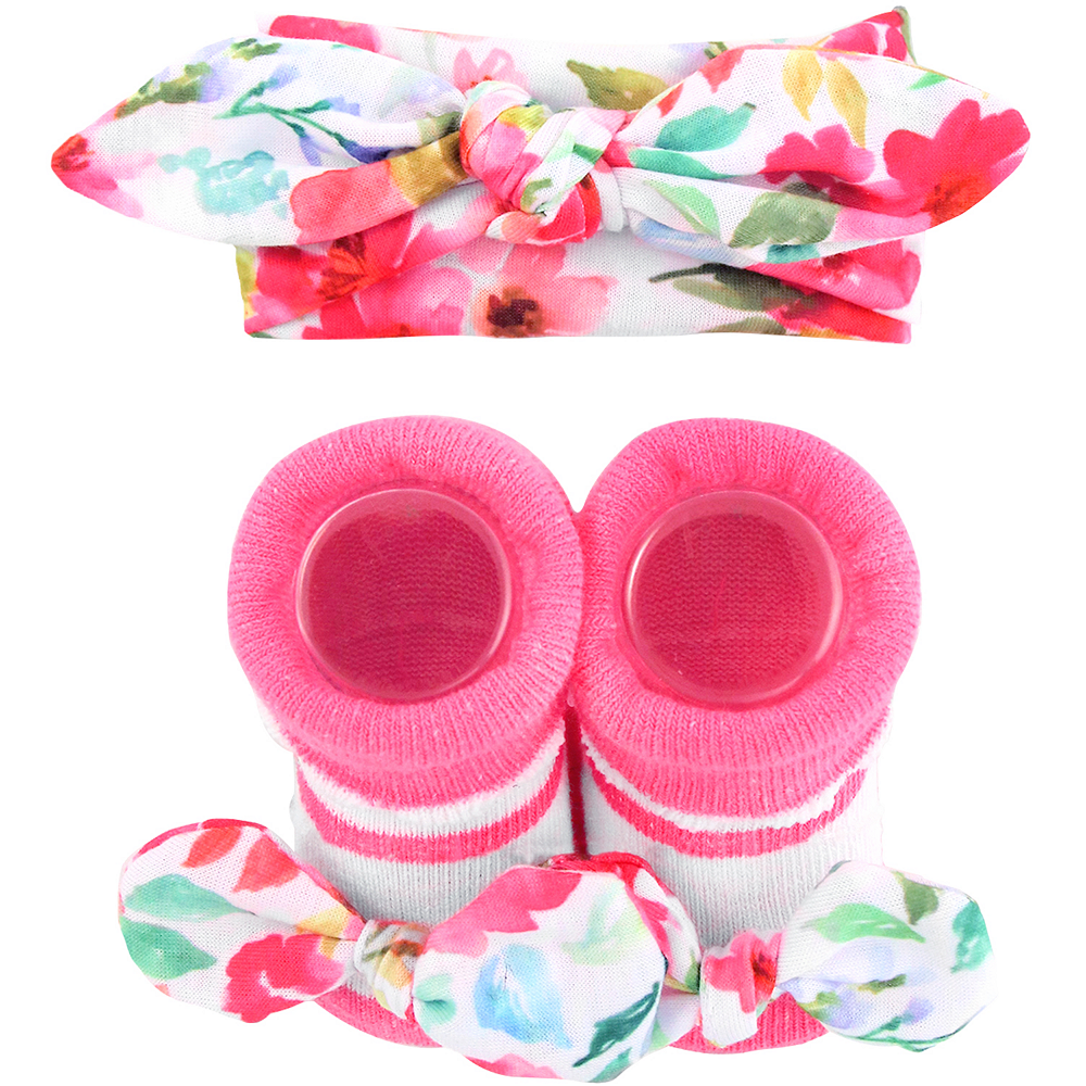 Pink Floral Accessories Set 3pc Image #1