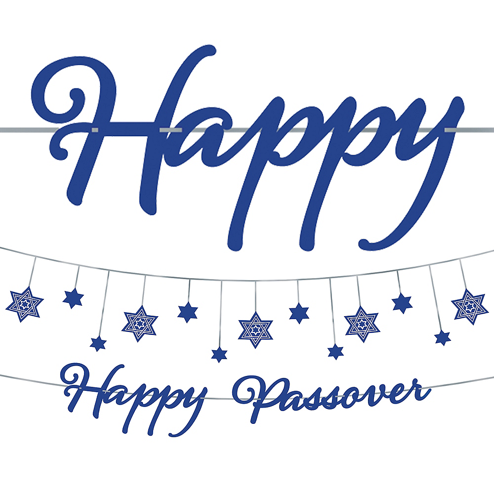 Happy Passover Letter Banner Kit 2pc Image #1