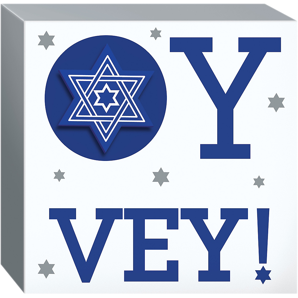 Oy Vey Block Sign Image #1