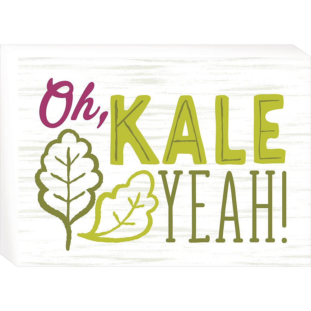 Oh Kale Yeah Block Sign Image #1