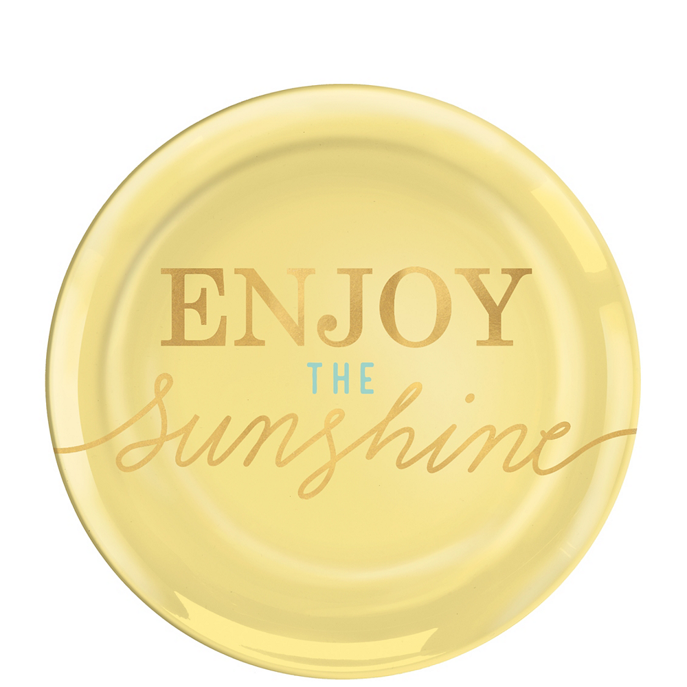 Enjoy the Sunshine Premium Plastic Dessert Plates 4ct Image #1