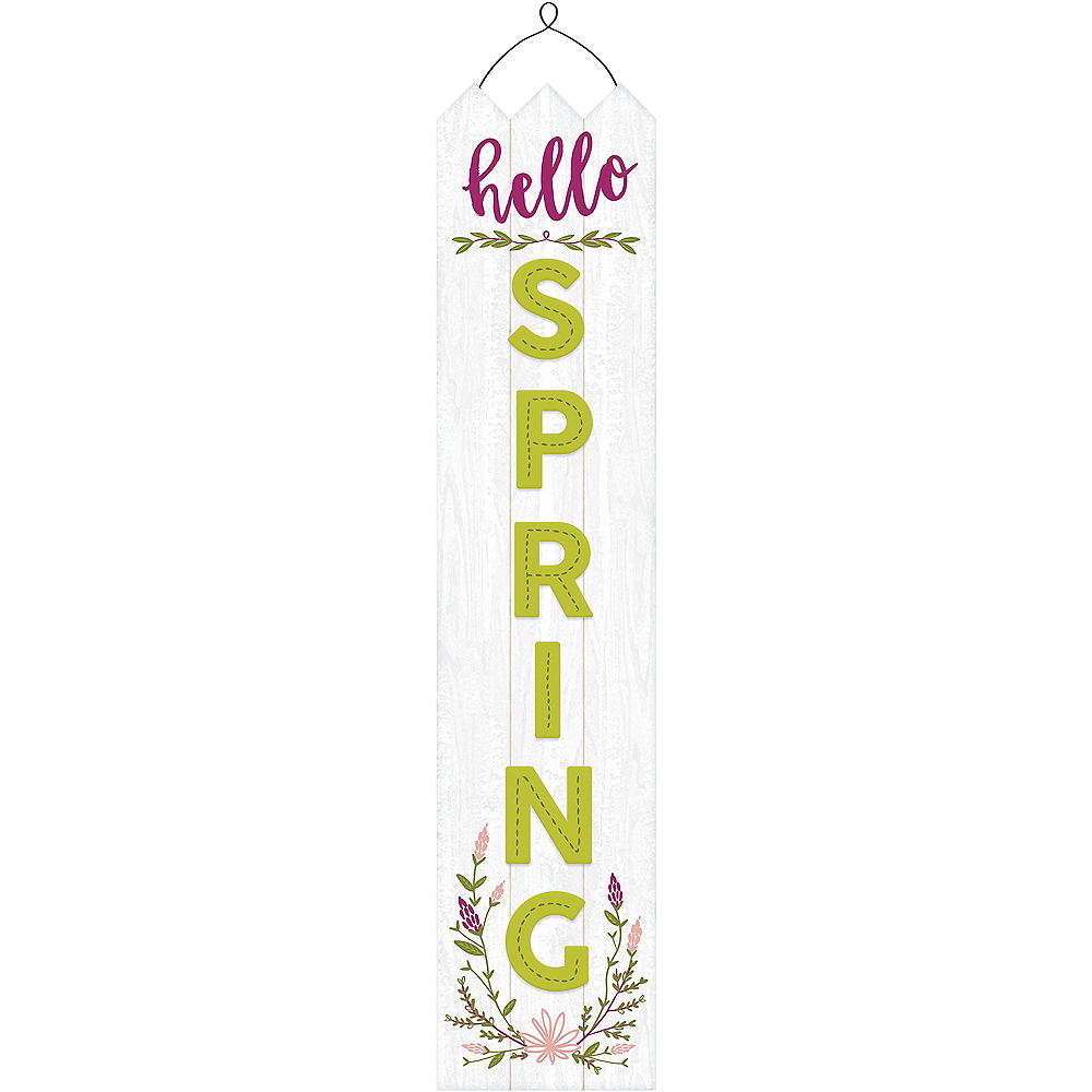 Hanging Hello Spring Sign Image #1