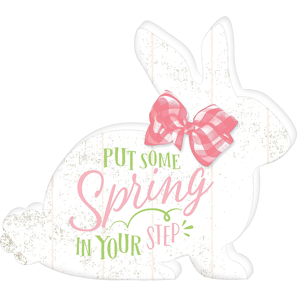 Spring in Your Step Easter Bunny Sign Image #1