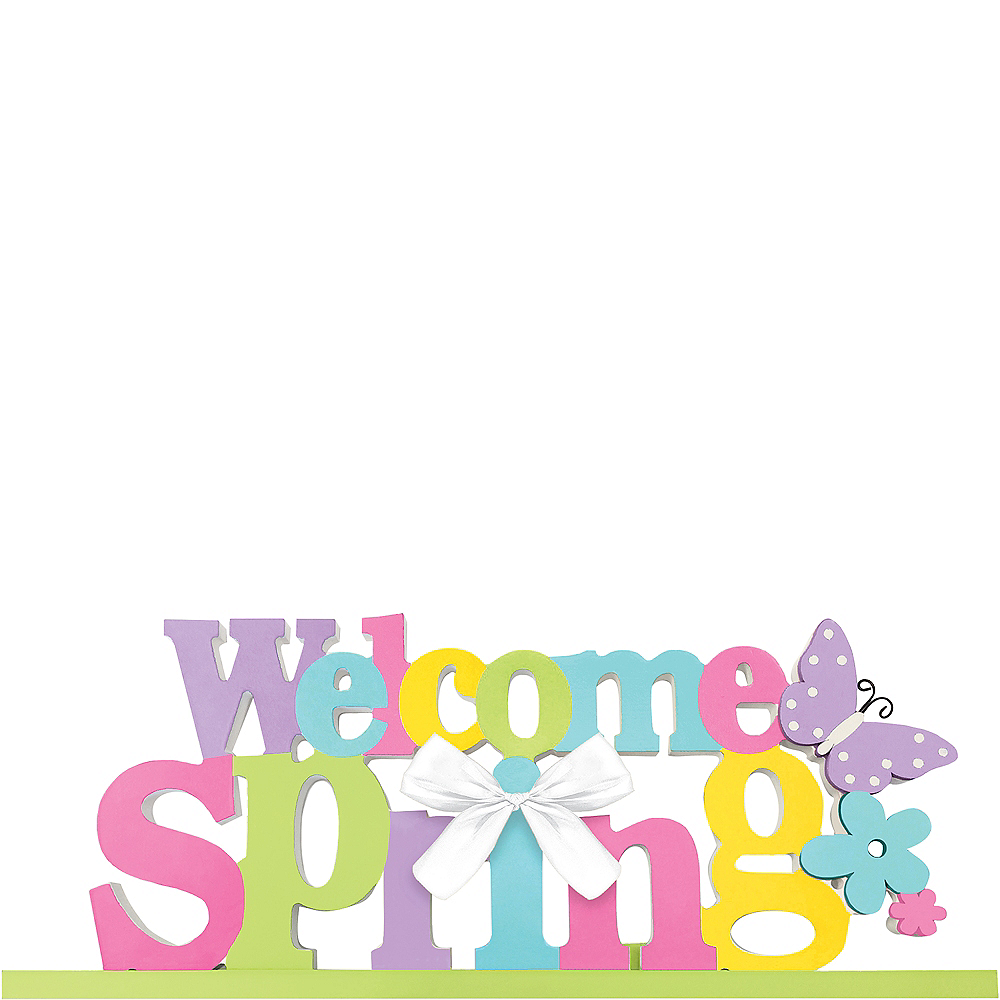 Welcome Spring Block Letter Sign Image #1