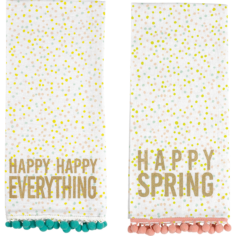 Happy Spring Kitchen Towels 2ct Image #1