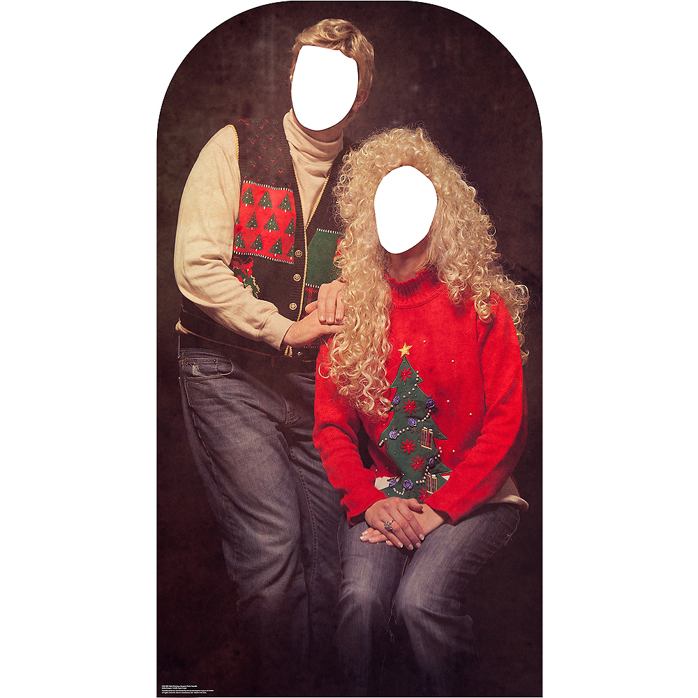 Ugly Christmas Sweater Life-Size Photo Cardboard Cutout Image #1