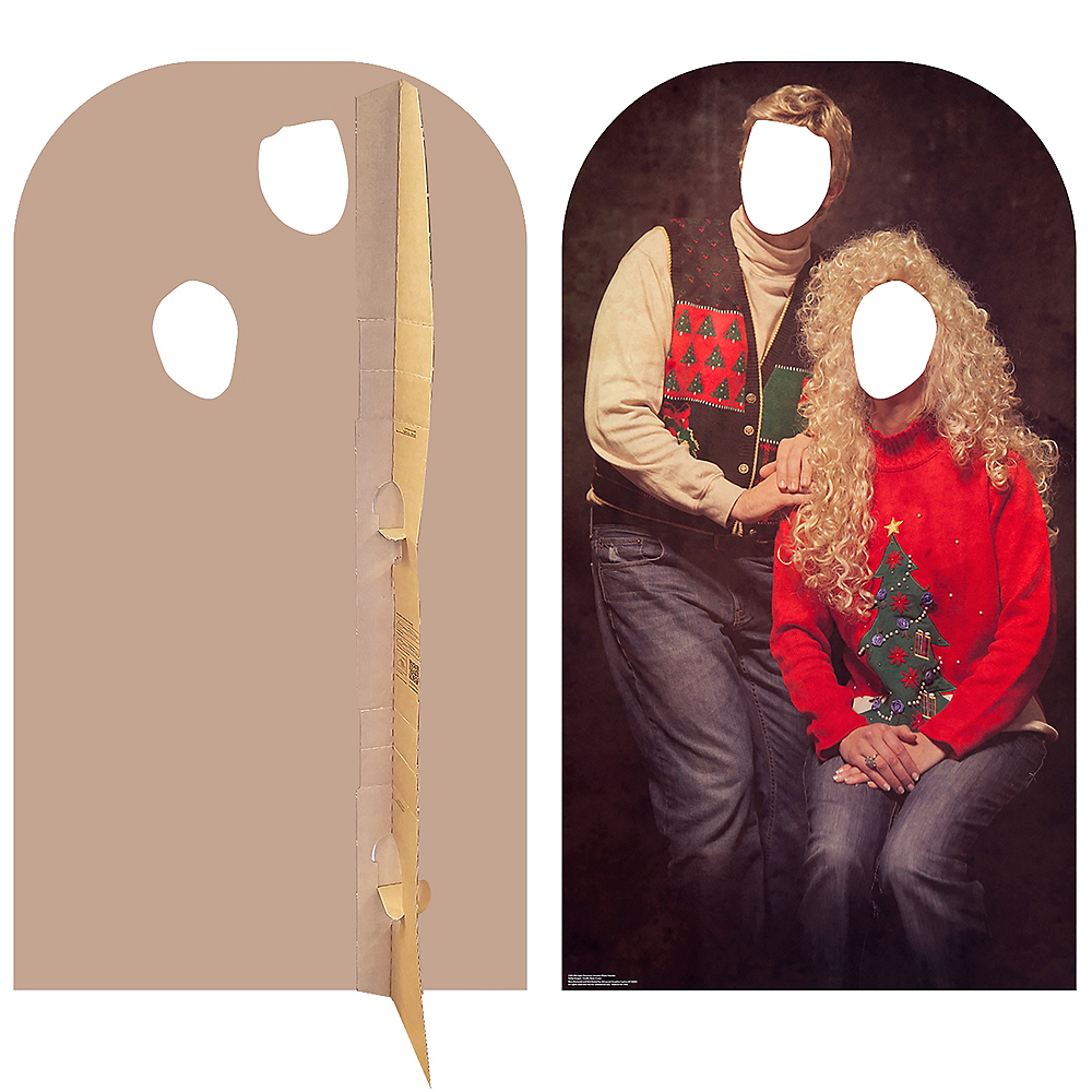Ugly Christmas Sweater Life-Size Photo Cardboard Cutout Image #2