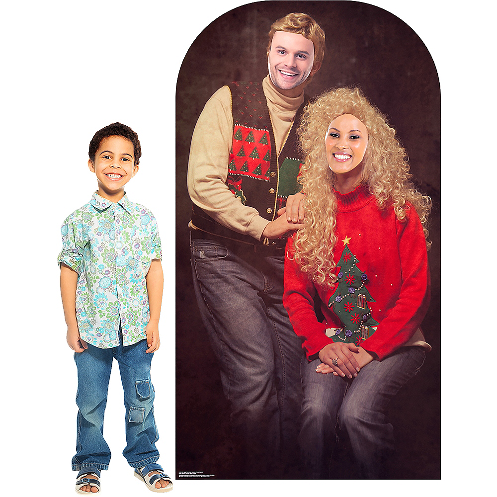 Ugly Christmas Sweater Life-Size Photo Cardboard Cutout Image #3